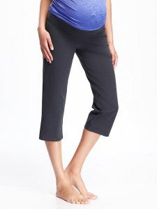 Maternity Roll-Panel Yoga Capris