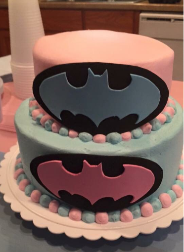 Batman gender reveal cake gender reveal cake ideas