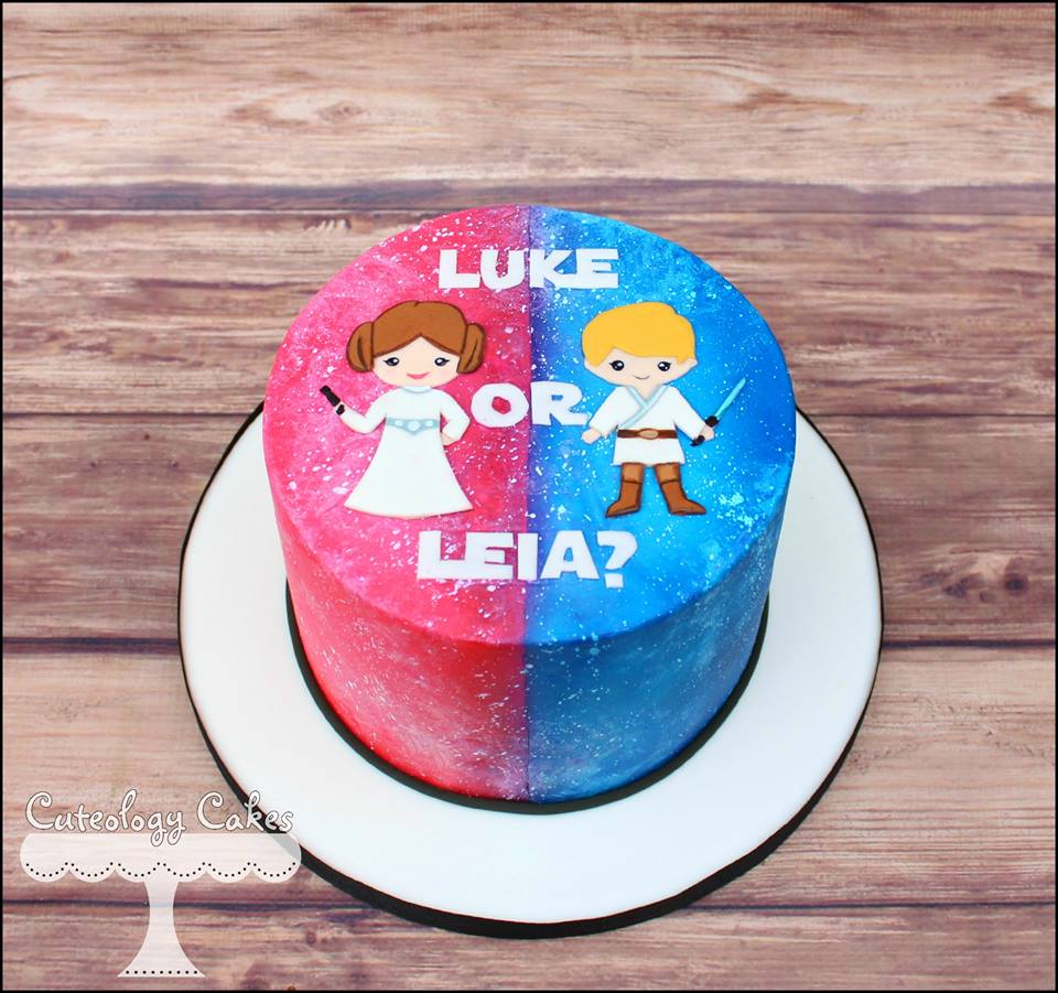 Sweet And Silly Gender Reveal Cake Ideas