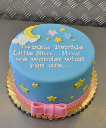 Twinkle, twinkle little baby gender reveal cake ideas