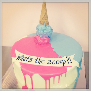 What's the scoop?!gender reveal cake ideas