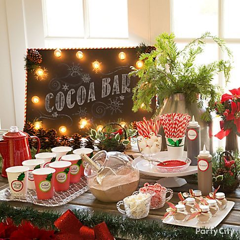 Christmas Baby Shower Cocoa Bar