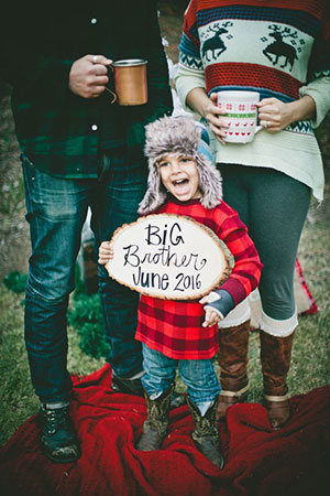 little boy christmas pregnancy announcement