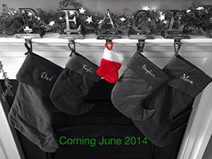 Christmas pregnancy announcement with small baby stocking