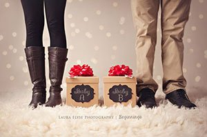 via laura elyse christmas pregnancy announcement on facebook