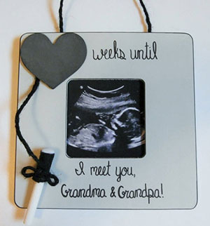 Christmas Pregnancy Announcement For Grandparents With Sonogram Ornament