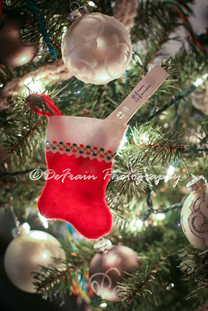 Christmas pregnancy announcement to your husband using a stocking