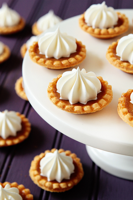 Christmas Baby Shower Food mini pumpkin pies