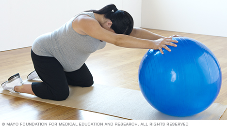 Backward Stretch with Pregnancy Ball