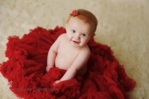 baby christmas photo idea minimal accessories