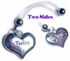 Pregnancy belly button rings for twins