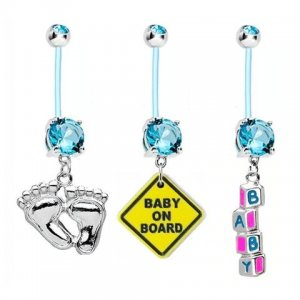 Cute pregnancy belly button rings