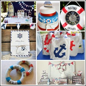 NAUTICAL BABY SHOWER DECORATION