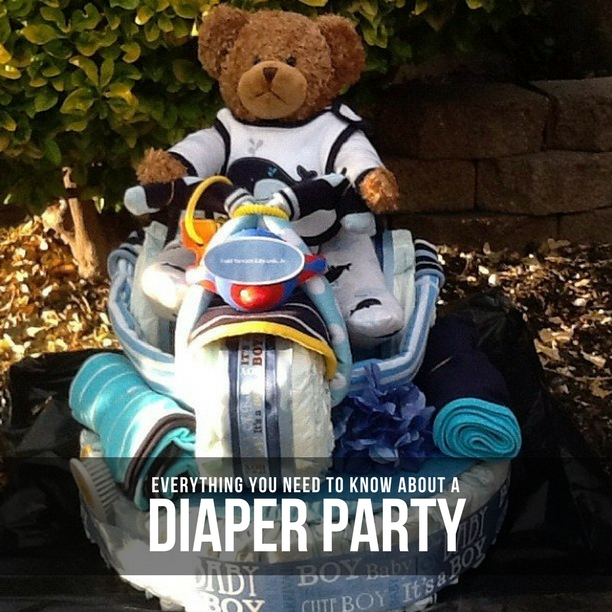 Diaper poker party prizes for baby