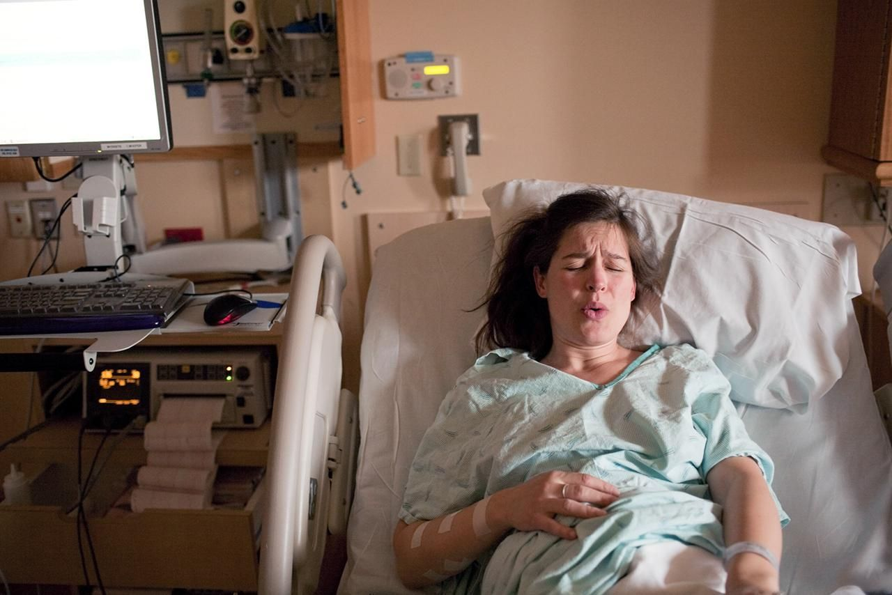 woman in pain ready for labor