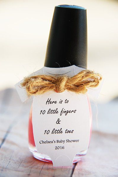 Baby Shower Favor, Thank you card, Nailpolish