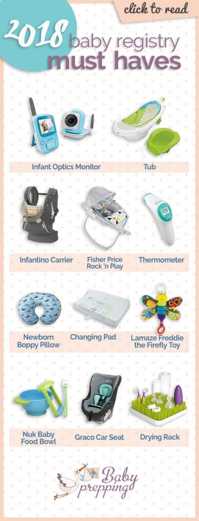 To help you with your registry, we've scoured the internet for the top eleven 2018 baby registry must-haves you should be sure to include ... Baby Registry | Baby Registry Must-Haves | Preparing for Baby | Baby Items | Pregnancy | Pregnant | Expecting #baby #registry #musthaves #mom #newmom #infographic