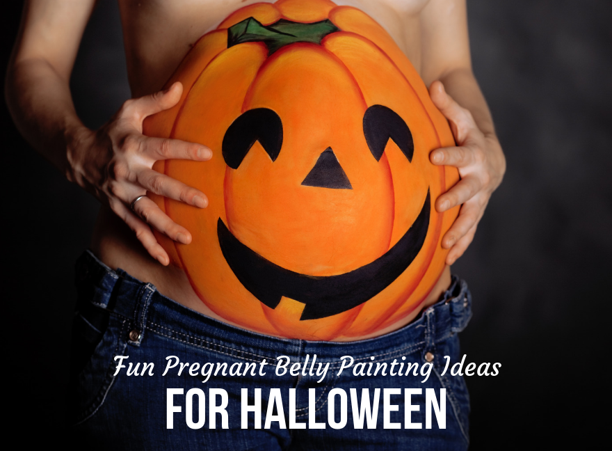 Fun Pregnant Belly Painting Ideas for Halloween